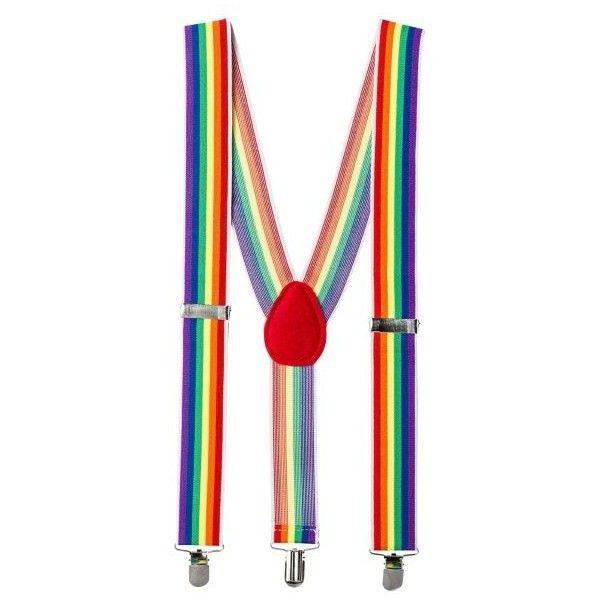 Rainbow Suspenders ($7.99) ❤ liked on Polyvore featuring intimates