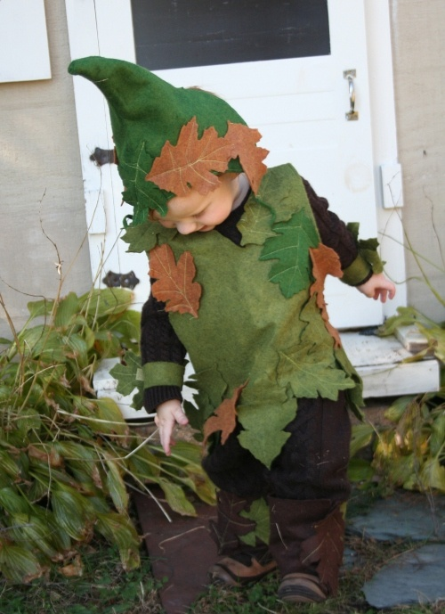 oak tree elf costume and a fairy this year for Halloween?