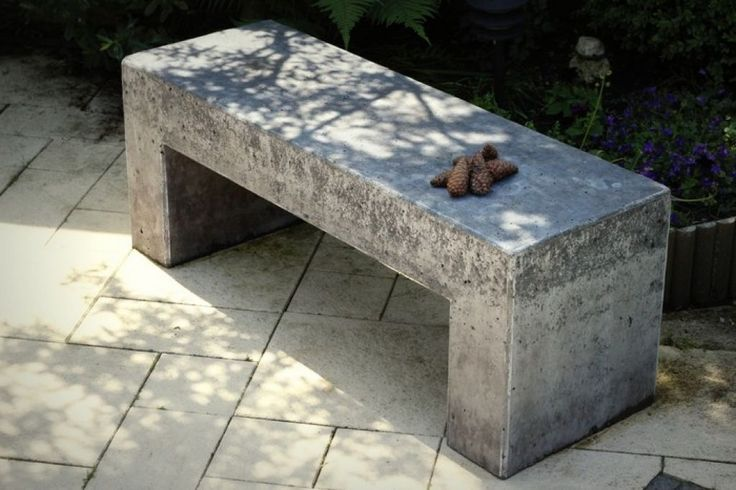 Simple Outdoor Concrete Bench : Cleaning Your Concrete Benches