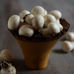 Baby White  These mushrooms have a delicate flavour and a firm texture. They are small and perfect in salads, on kebabs and antipasto.