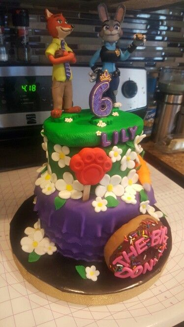 Zootopia birthday cake I made for a friend's daughters birthday :)