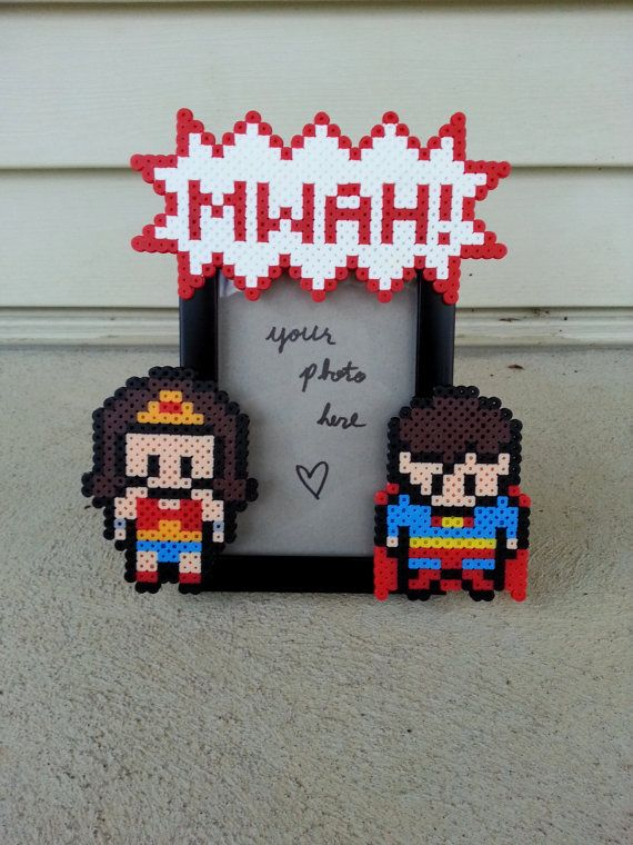 Wonder Woman and Superman Picture Frame - Nerdy/Geeky Couples Picture Frame