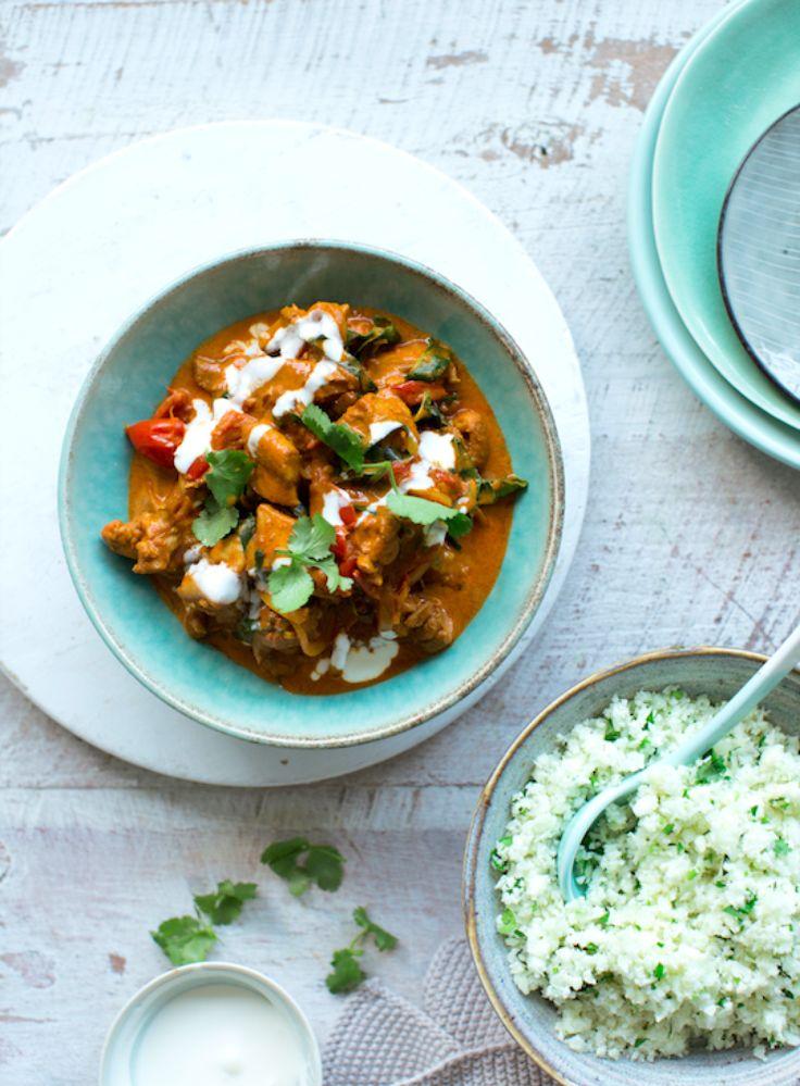 Nadia Lim's Chicken and Spinach Tikka Masala with Cauliflower 'Rice'