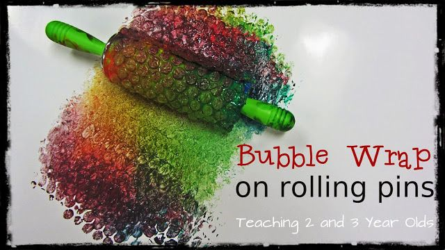 Kids Art Activity:  Teaching 2 and 3 Year Olds: Preschool Painting with Rolling Pins