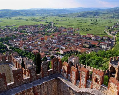 Soave Italy is a small walled town in the Veneto region, fourteen miles east of Verona - One of my favorite towns to go!: