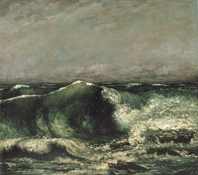 The Wave, 1870  Oil on canvse 33 5/8 x 39 3/4 in (85.5 x 99.5 cm) -Gustave Courbet -Collection Oskar Reinhart, Winterthur by Courbet