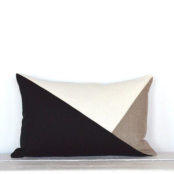Side Envelope Modern Colorblock Pillow Cover  by celineandkate