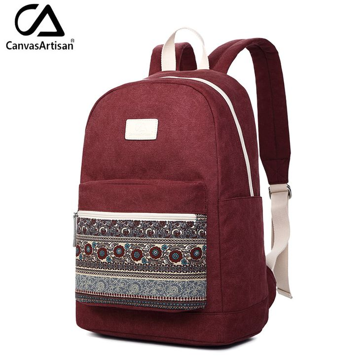 Canvasartisan Top Quality Women Backpack Retro Floral Style Youth Schoolbag Canvas Casual College Book Bags Bagpacks 13 inch