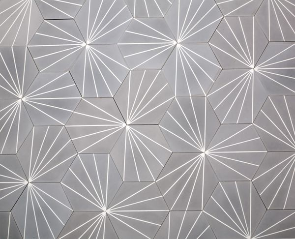 Cement Tiles | Electra Steel Grey | Cement Hexagon Tile