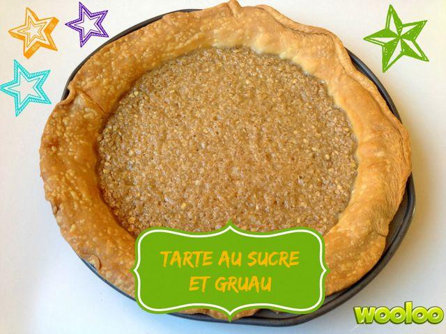 Une recette de tarte au gruau avec 4 ingrédients : 1 Abaisse, du lait, de la cassonade et du gruau!