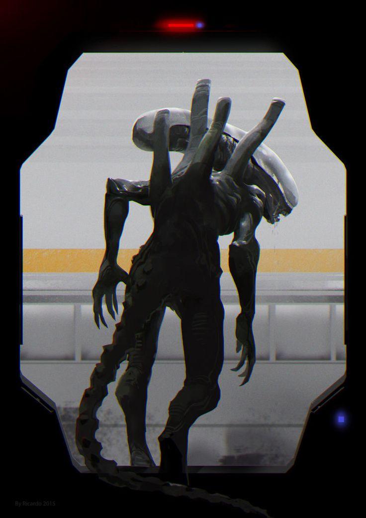 #Alien artwork inspired by #AlienIsolation by Ricardo Robles #WeylandYutani