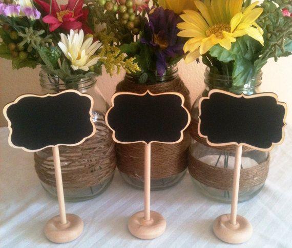 Mini Chalkboard Stands Braden, Grace, and Camden STYLE - Hostess Gift, Wedding Chalkboards, Rustic, Buffet Labels