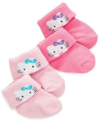 Hello Kitty Baby Socks, Baby Girls 2-Pack Hello Kitty Socks - Kids Baby Girl (0-24 months) - Macy's