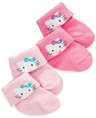 Hello Kitty Baby Socks, Baby Girls 2-Pack Hello Kitty Socks - Kids Baby Girl (0-24 months) - Macy's