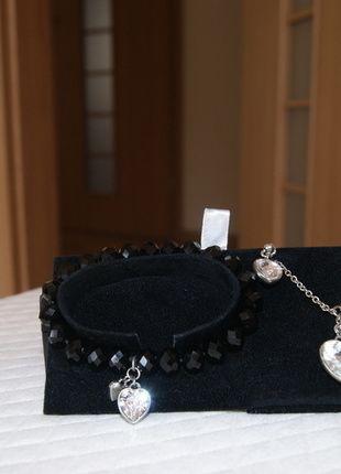 Kup mój przedmiot na #vintedpl http://www.vinted.pl/akcesoria/bizuteria/14028748-bizuteria-czarna-z-kolorem-srebrnym-monogram-fiorelli