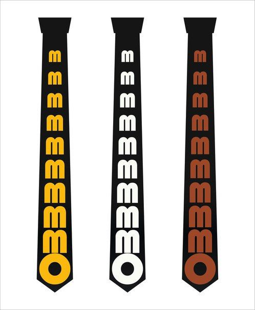 Om mantra necktie. Printed necktie. Sacred spiritual от H2Ofashion