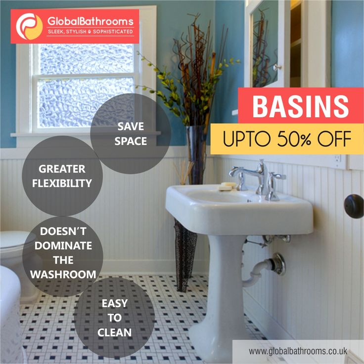 basins available at global bathrooms uk are easy to clean and saves a lot of space