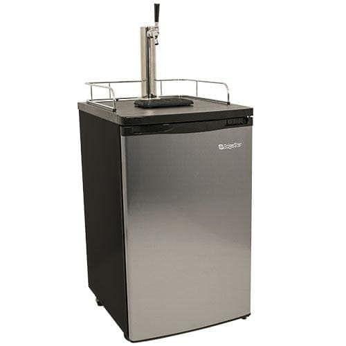 EdgeStar KC2000 20 Inch Wide Kegerator and Keg Beer Cooler for Full Size Kegs (Stainless Steel), Grey (Rubber)