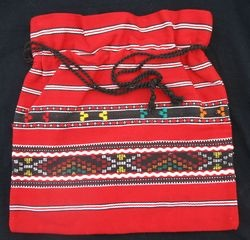 Typical Romanian cotton bag in the traditional folk style.
