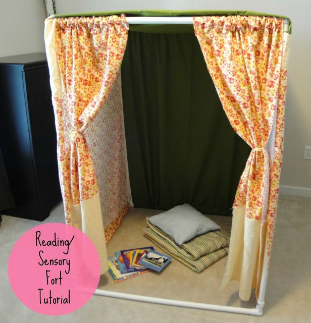 DIY Sensory or  Reading Fort technique to promote calming of the sensory sensitive child