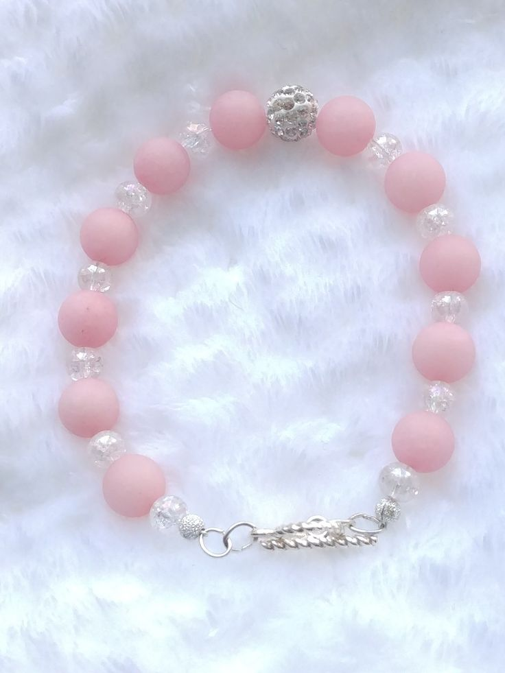 Rose Quartz Bracelet on Etsy from BracebyPatti