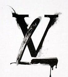Louis Vuitton logo as a straight edge razor