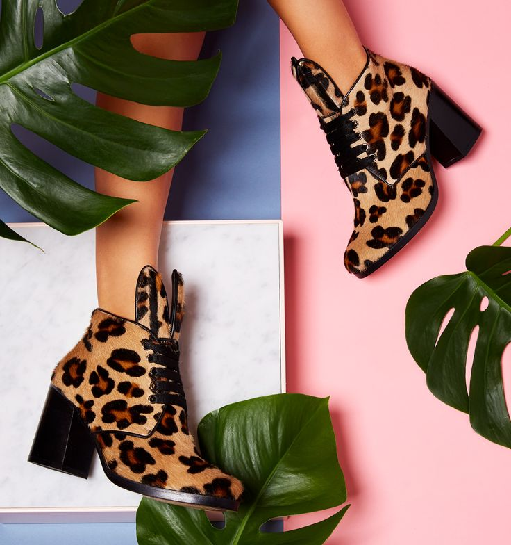 We are giving chilly weather the boot and adding some spring in our step. Bunny-eared boots will do the trick. Minna Parikka Blondie in leopard pony