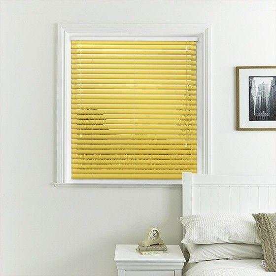 Warm Yellow Venetian Blind