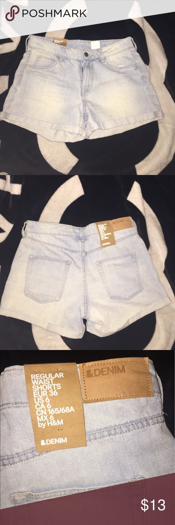 💕NEW H&M Cuffed Shorts💕 New with defects! These are new never been worn, but came with a broken zipper, so I'm pricing these low for that reason! After contacting my local dry cleaners, I was advised that the repair of the zipper would be no more then $2-$3 to repair everywhere! These are a size: 6, but fit more like a size: 4! 🚨PRICE FIRM H&M Shorts Jean Shorts