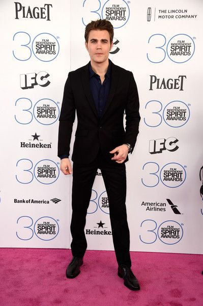Actor Paul Wesley attends the 2015 Film Independent Spirit Awards at Santa Monica Beach on February 21, 2015 in Santa Monica, California. - 2015 Film Independent Spirit Awards - Arrivals