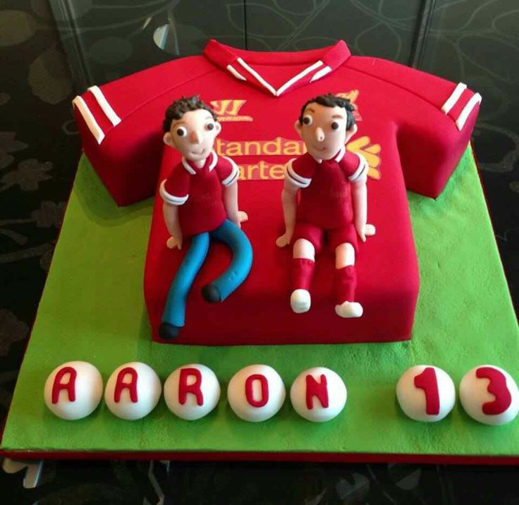 Birthday cake for a Liverpool fan.