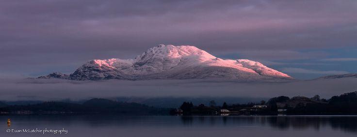 Ben Lomond on a crisp winter day, Loch Lomond, #Scotland