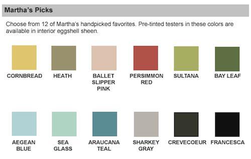 Martha stewart paint sensational color paint brand guide color me pink pinterest martha for Martha stewart exterior paint colors
