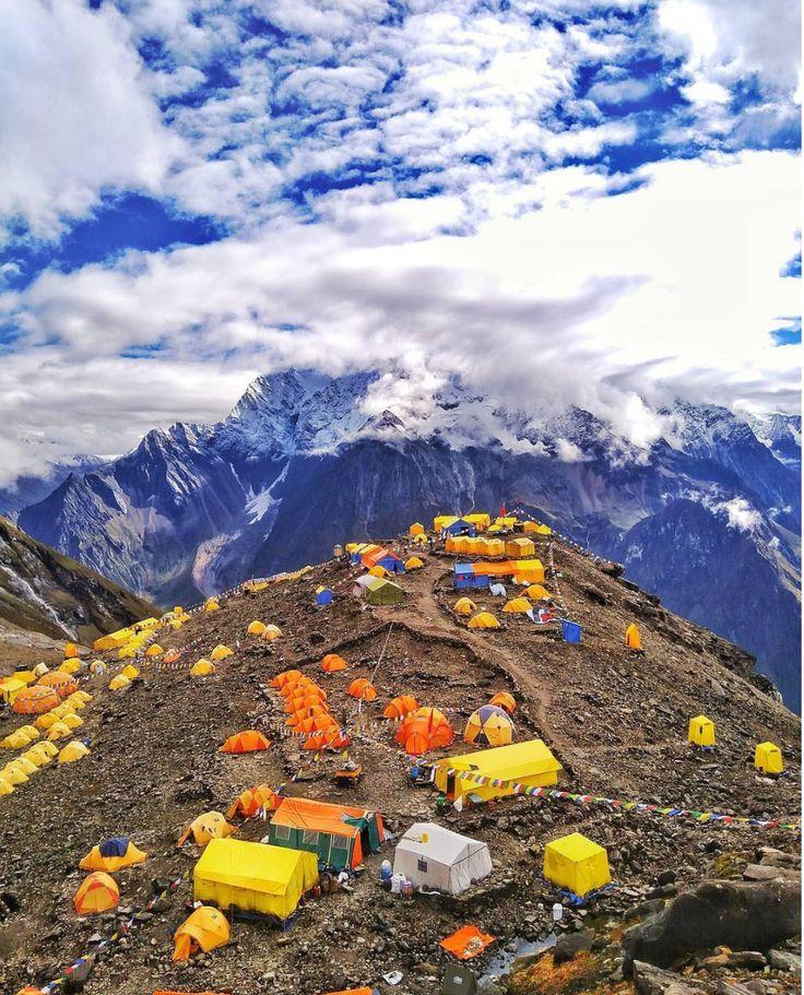 Mt Everest Nepal Topo Rocks Glass