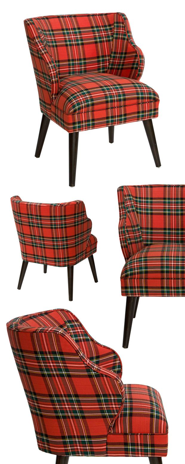 Just when you thought you'd exhausted possibilities for creating the perfect vintage-inspired room motif, we present the Aberdeen Accent Chair. If you hadn't considered plaid as a suitable pattern, you...  Find the Aberdeen Accent Chair, as seen in the Fresh Meets Eclectic at The Graduate, Oxford Collection at http://dotandbo.com/collections/fresh-meets-eclectic-at-the-graduate-oxford?utm_source=pinterest&utm_medium=organic&db_sku=115679
