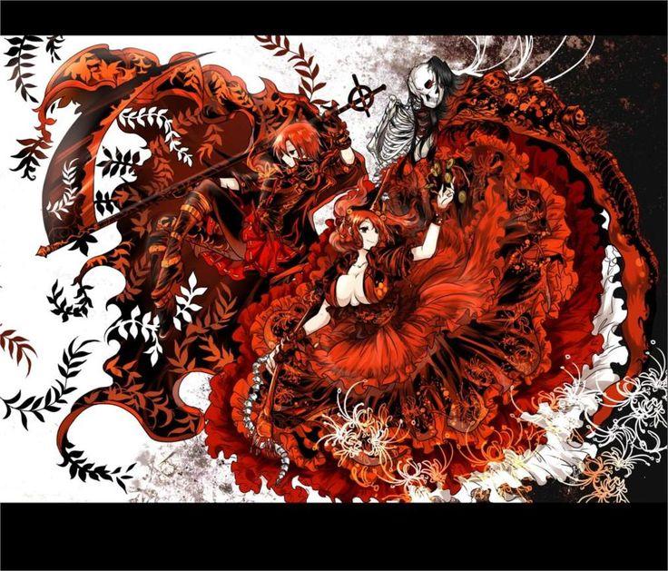 Touhou Onozuka Комачи Sekibanki косами красные платья красные глаза redheadsred паук лилии 4 Размеры Шелковые Ткани Холст Печати Плакатов