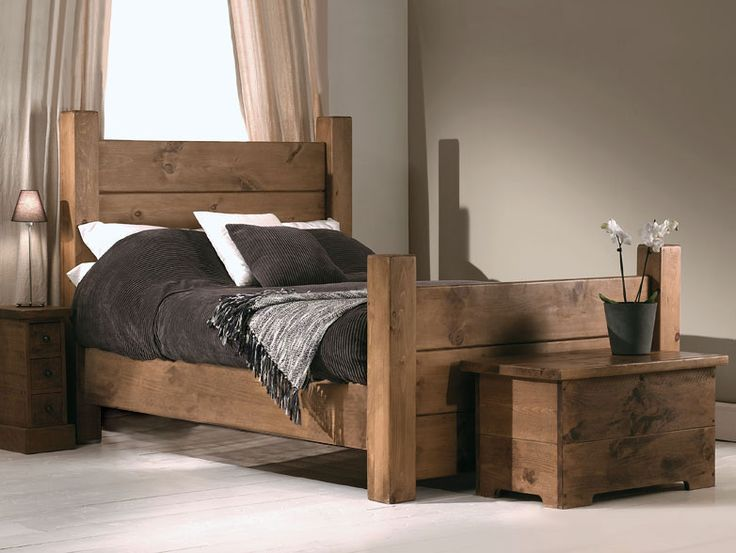 Plank Wooden Bed | Part of the extensive collection of handmade furniture on display at Indigo Furniture's Peak