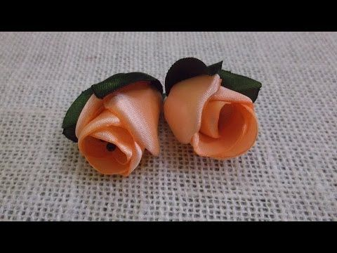 D.I.Y. Satin Rose / Peony Flower Bud - Tutorial | MyInDulzens - YouTube