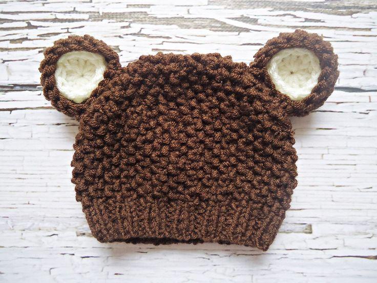 Crochet teddy bear Hat Newborn bear hat Baby by CudaWiankiAni, zł45.00