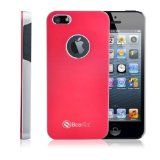 Beantec Stylish Aluminum Case for iPhone 5 and 5S - for Girls & Guys - Latest Design with Brushed Aluminum & High Quality PC Hard Case - Scratch Resistance & Lightweight - AT&T,Verizon,Sprint - with Free Screen Protector(Red) by Beantec In