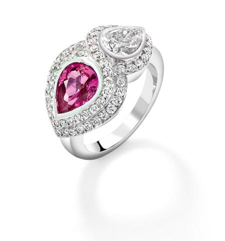 Angara s Brown Diamond Octagon Halo Ring in White Gold P9XIdd8mj
