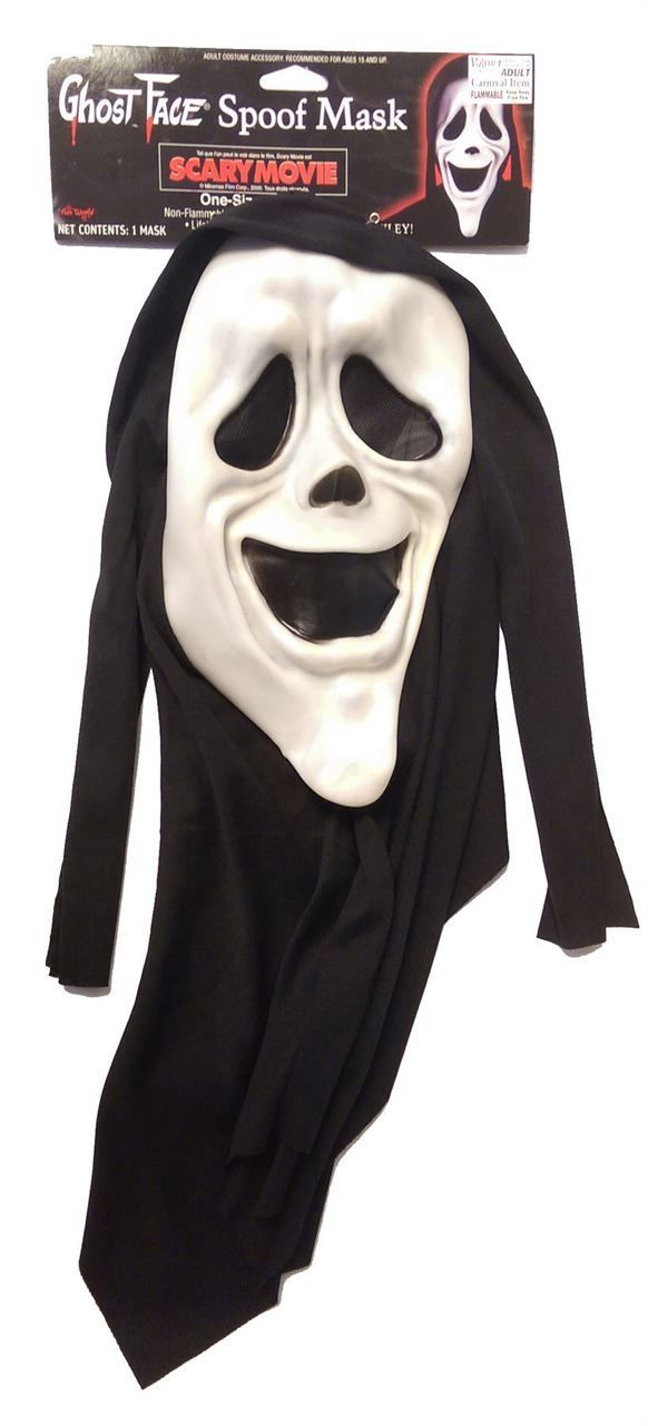 Smiley Scream Scary Spoof Movie Licenced Halloween Mask - Dragons Den Fancy Dress Limited