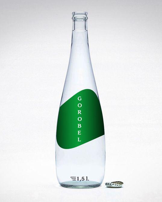 Packaging proposal for premium water Gorobel.