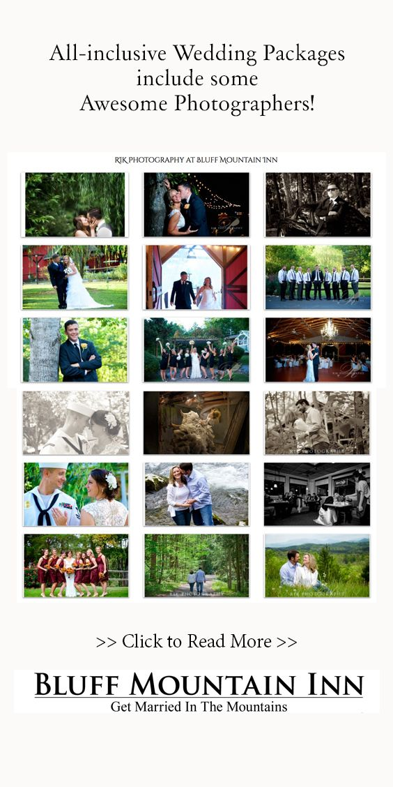 All-inclusive wedding packages include the services of some Awesome Photographers! Years from now, you will remember all the special moments like it was yesterday!