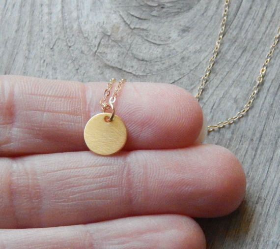 Tiny ketting munt sierlijke gouden ketting Gold Disc
