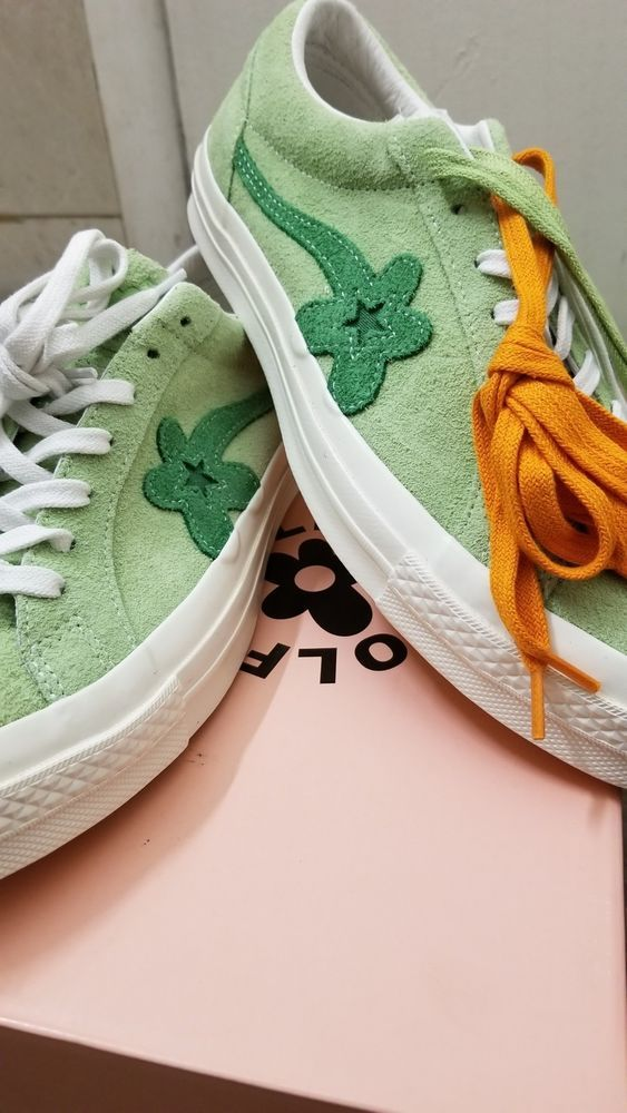 06ec3caa6cd739 Converse One Star x Tyler The Creator Golf Le Fleur Size 9 Green.  fashion   clothing  shoes  accessories  mensshoes  athleticshoes (ebay link)