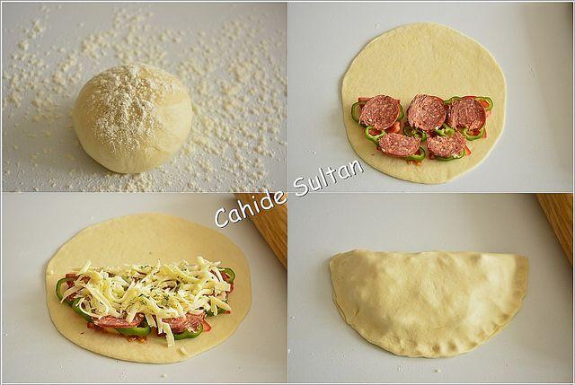 Tavada Kapalı Pizza Tarifi ekmek hamuruyla da yapabilirsiniz