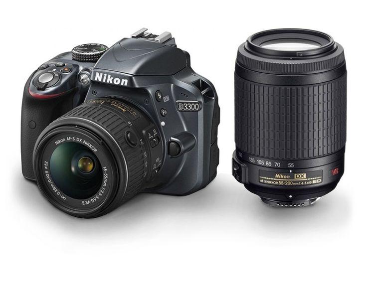 Nikon D3300 Double Kit 18-55mm & 55-200mm
