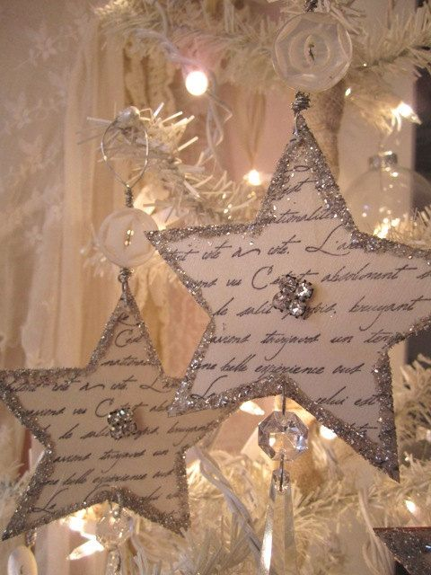 Shabby French Script Ornaments ~ AnneMariePaperie