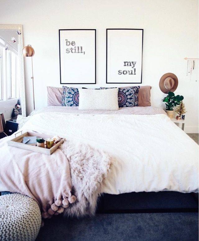 Love this except the tacky posters above bed 240 best Home  Bedroom images on Pinterest Ideas for